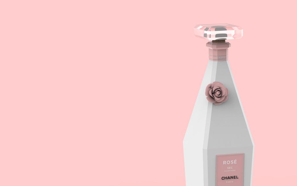 华丽的香奈儿香槟包装概念