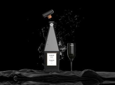 华丽的香奈儿香槟包装概念 ????