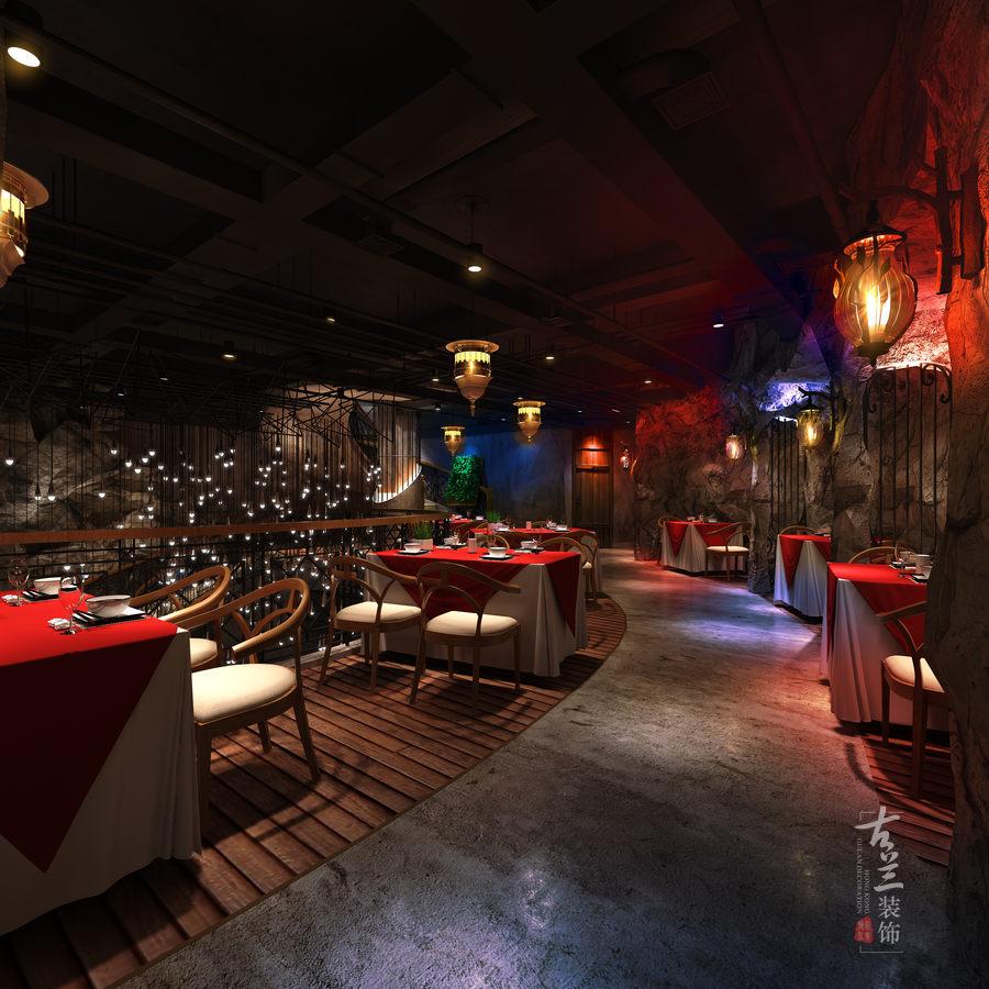 成都主题餐厅装修设计-温州荒石音乐主题餐厅