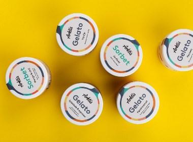 """手工冰淇淋""""Arktis Gelato""""品牌视觉形象设计"""