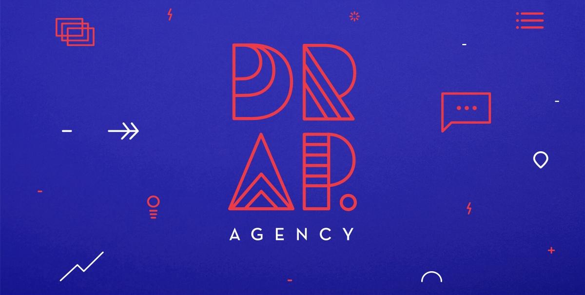 """数字场景""""DRAP.agency""""品牌视觉形象设计"""