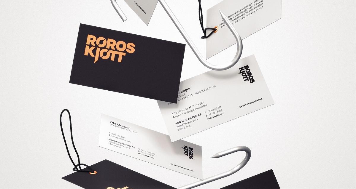 """肉类加工""""RØROSKJØTT""""品牌视觉形象设计"""