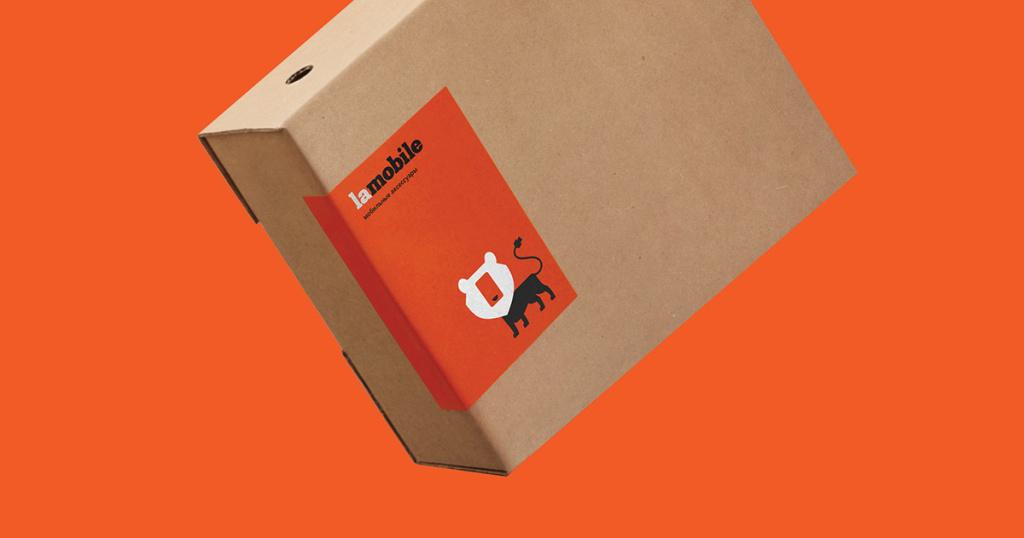 Lamobile莫斯科移动配件网狮子灵感的品牌形象设计