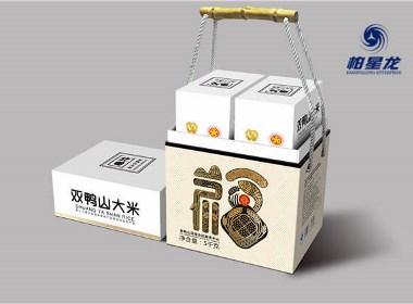 """北田双鸭山大米包装设计,柏星龙让你把""""福""""带回家"""