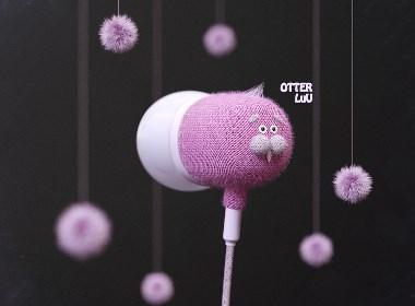 优秀工业设计产品推荐——非常可爱的小动物耳机