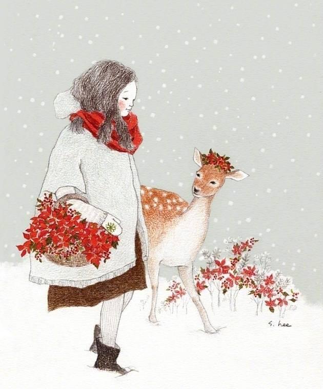 冬天下雪了么—插画欣赏