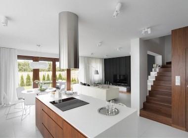 波兰D58白色简约的住宅设计