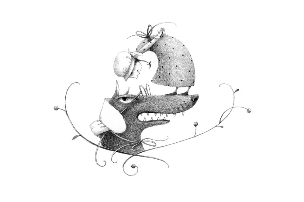 黑白插画欣赏