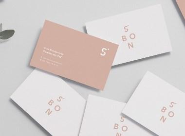 巴伦西亚S.Bon 简约时尚现代的服装品牌VI设计