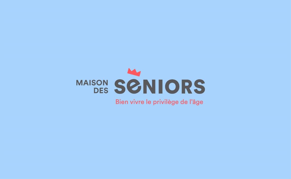 """法国养老院""""Seniors' house""""品牌视觉形象设计"""