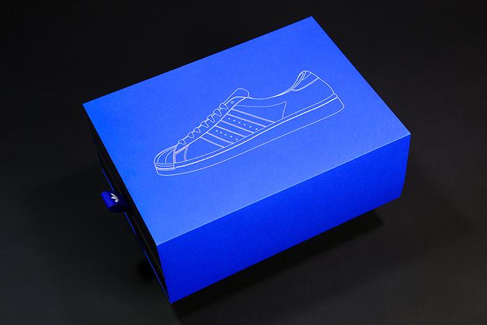 Adidas Superstar 50周年纪念版包装和视觉设计
