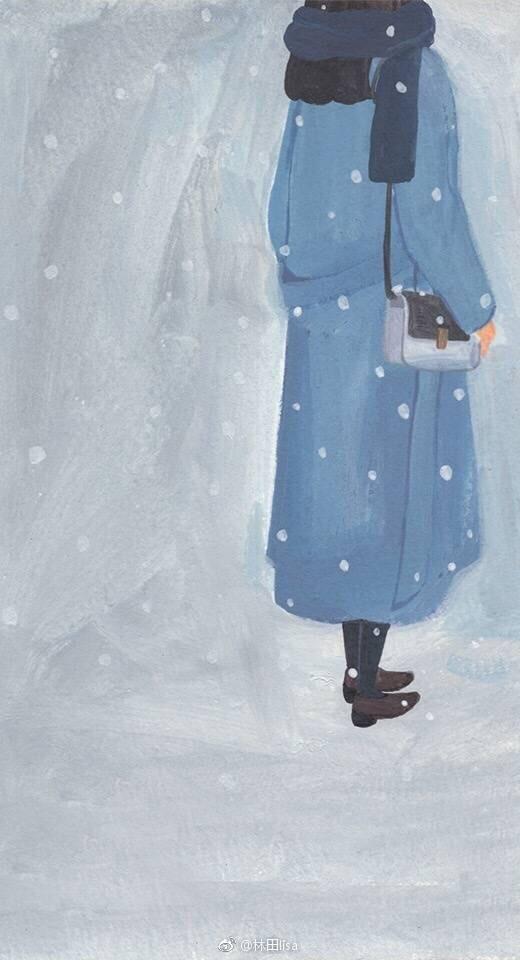 这个冬天的蓝与白