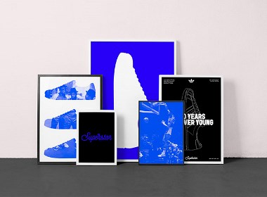 Adidas Superstar 50周年紀念版包裝和視覺設計