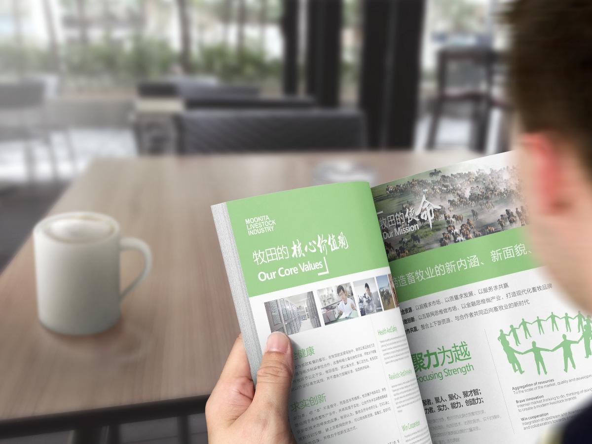 牧田牧业企业画册设计
