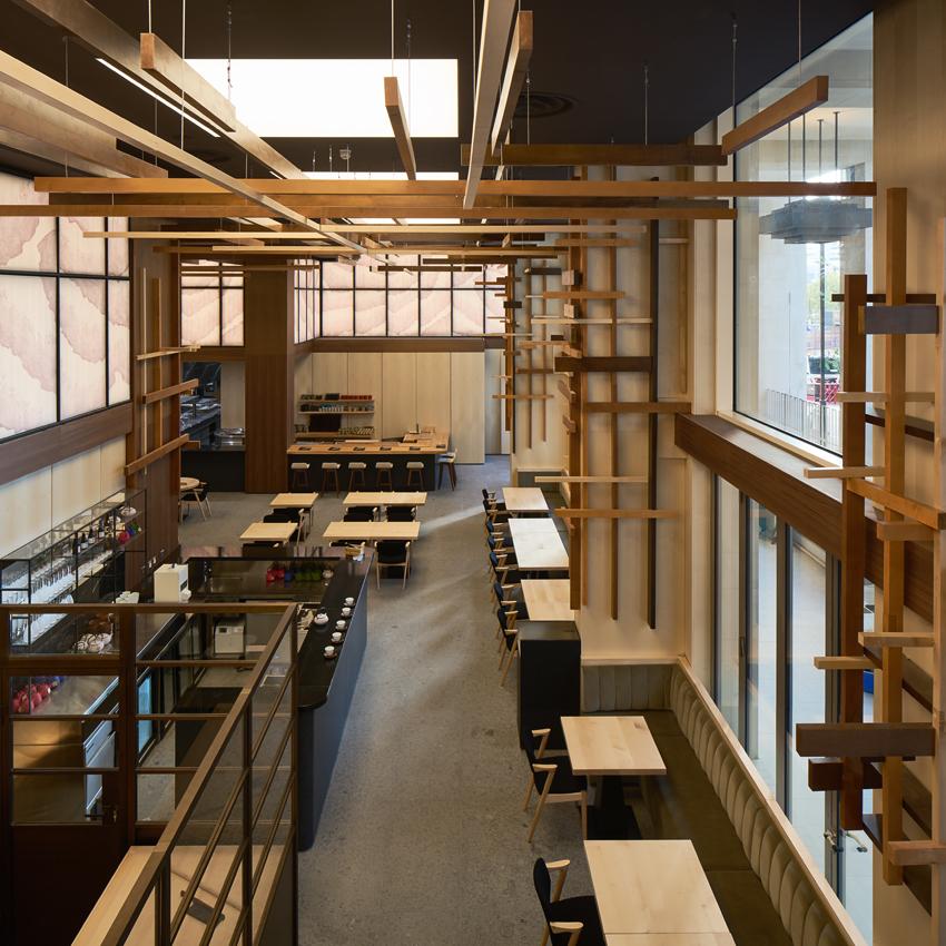 一组日本木式料理店设计