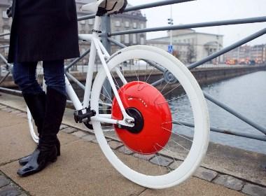 红色智能自行车