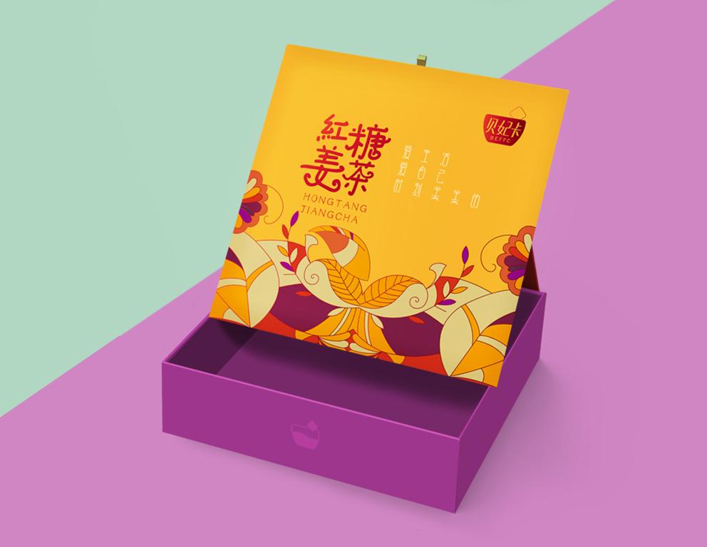 【汇包装】红糖姜茶礼盒包装设计