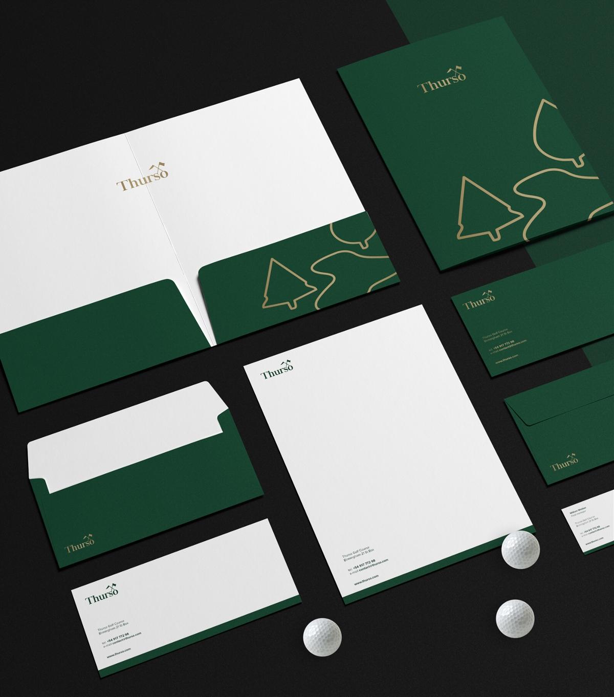 """高尔夫球场""""Thurso""""品牌视觉形象设计"""