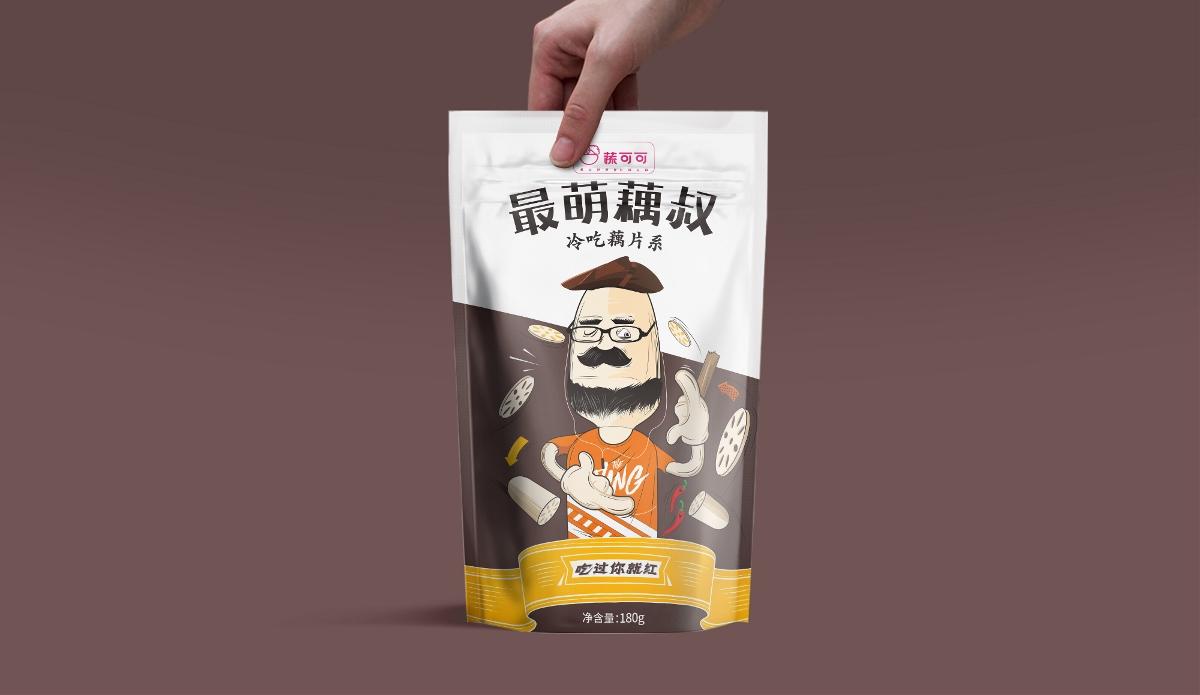 西安食品包装设计,蔬可可速食冷吃休闲食品西安厚启品牌包装设计