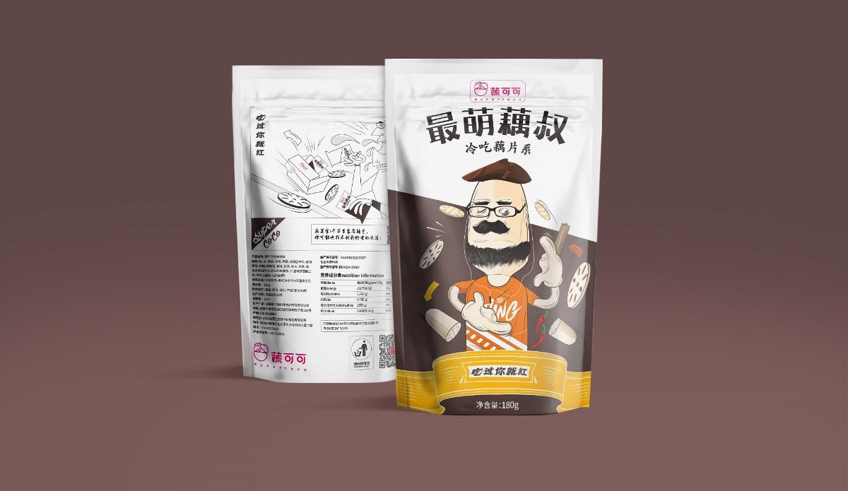 蔬可可速食冷吃休闲食品西安厚启品牌包装设计