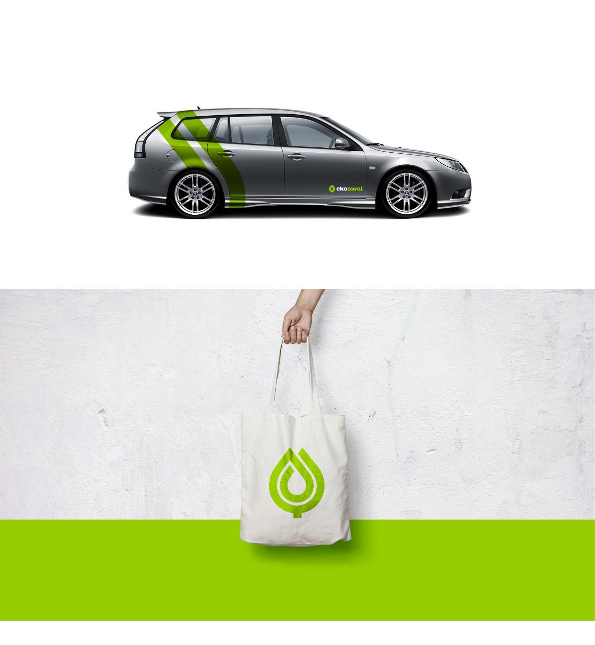 """环保垃圾箱""""Ekoawal""""品牌视觉形象设计"""