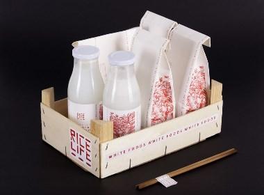 Rice Life手工制作的食品系列包装设计