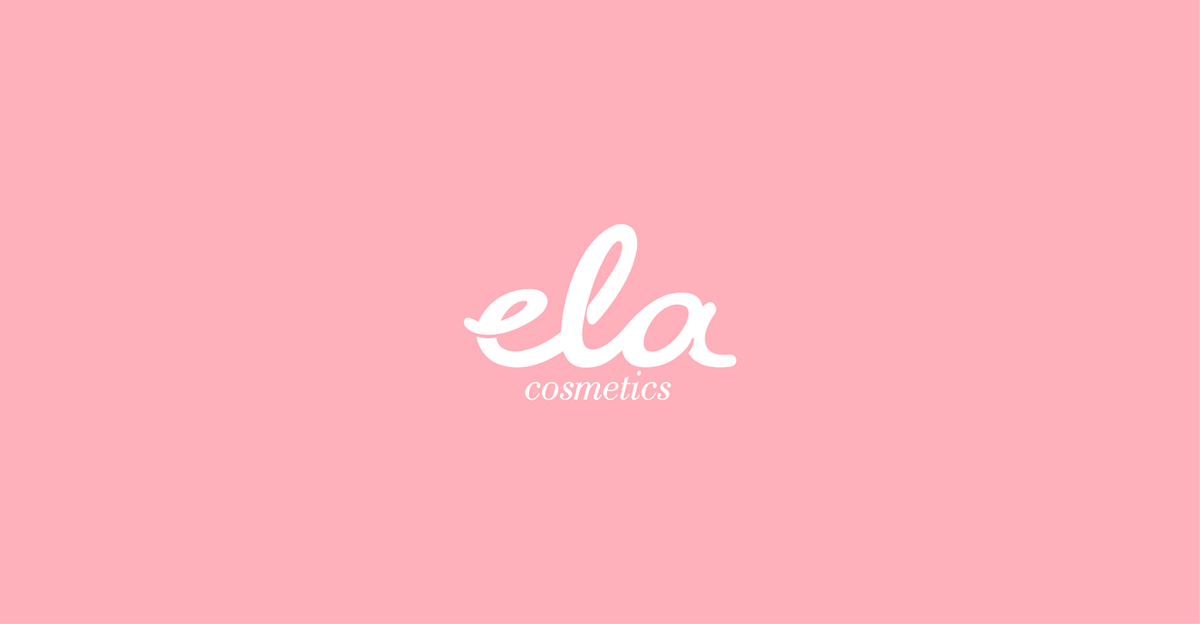 Ela cosmetics粉色系包装设计 | 摩尼视觉分享