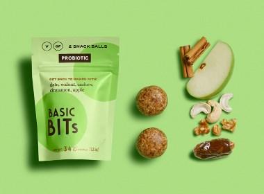 Basic Bits Raw Snack Balls國外包裝設計 | 摩尼視覺分享
