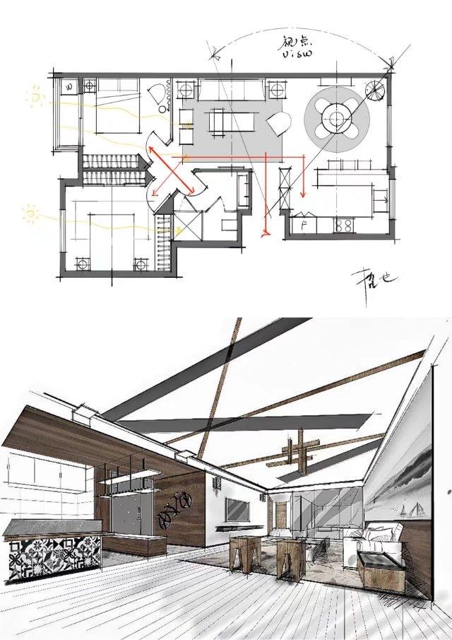 室内设计户型优化和快速空间表达