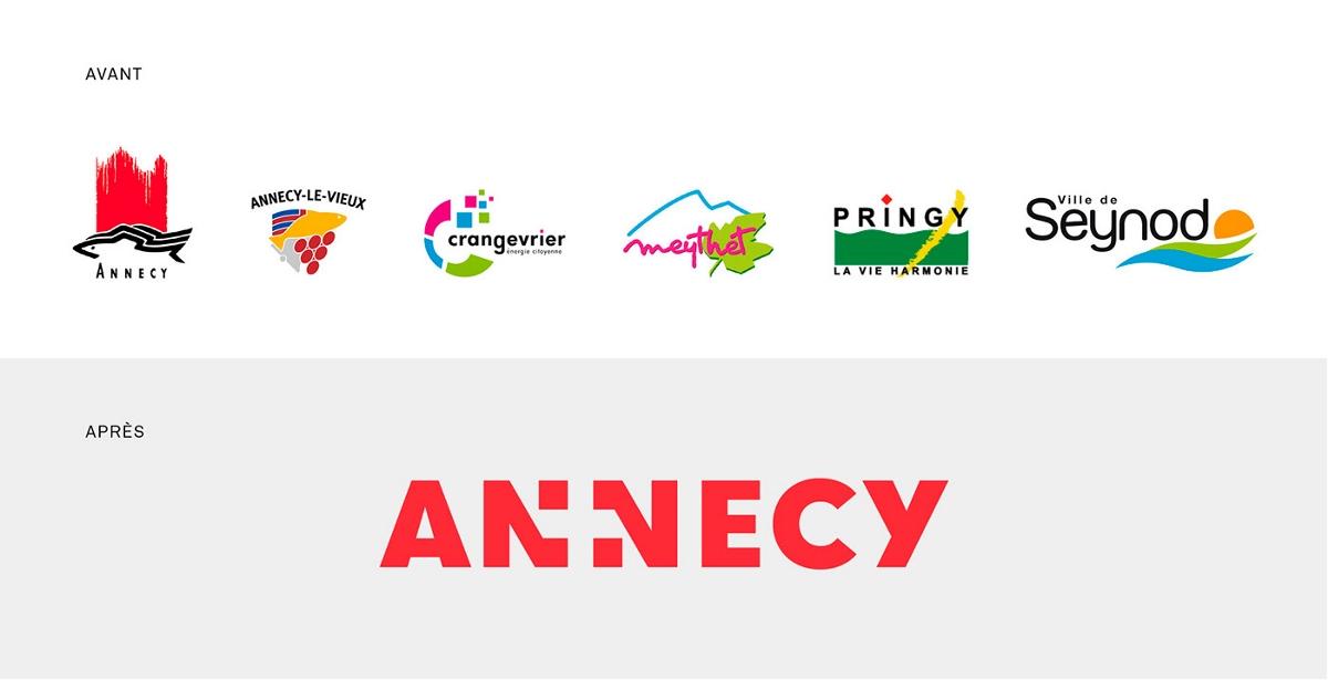 阿讷西市城市品牌标志及形象设计
