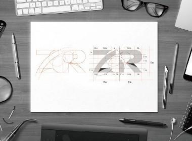 """品牌""""ZR""""logo视觉设计"""