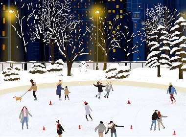 冬季的中央公园