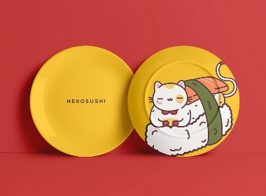 NEKOSUSHI寿司餐厅品牌形象视觉设计