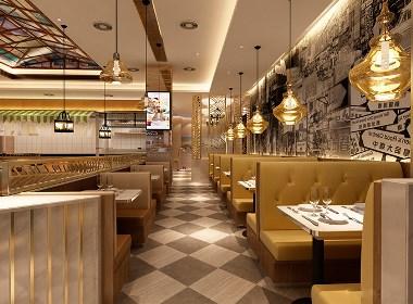 眉山港式茶餐厅设计丨眉山港式茶餐厅装修-唯苑港式茶餐厅