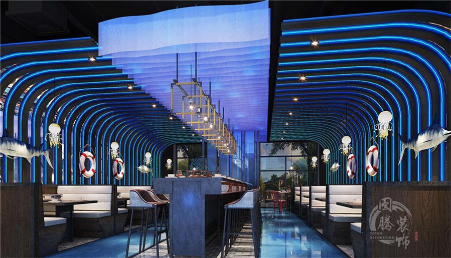 南充专业特色海鲜餐厅设计公司设计案例丨图腾装饰丨海焰海鲜主题餐厅