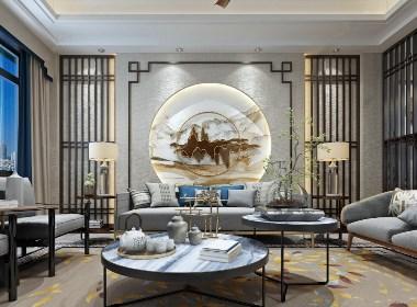 [万里挑一]新中式客餐厅精品模型锦集36套--第二季