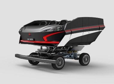 优秀工业设计产品推荐——暗黑乘骑vr游戏模拟机