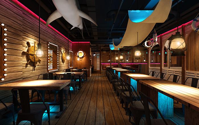 小2海鲜餐厅-成都海鲜餐厅设计 成都海鲜餐厅装修 成都连锁海鲜餐厅设计公司