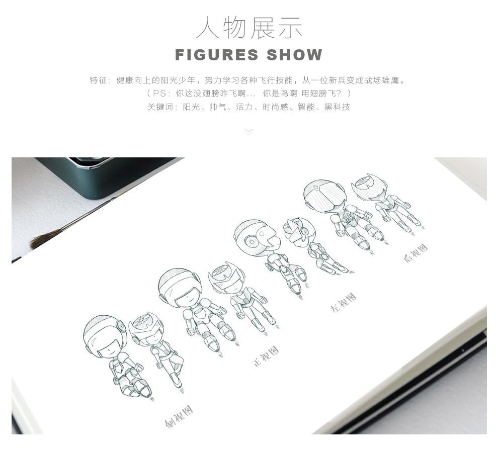 航空大世界卡通形象设计-刘孝文