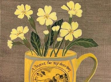 一束花朵插画欣赏