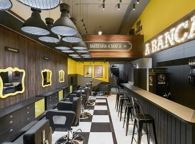 Barbearia A Banca 商业空间 | 摩尼视觉分享