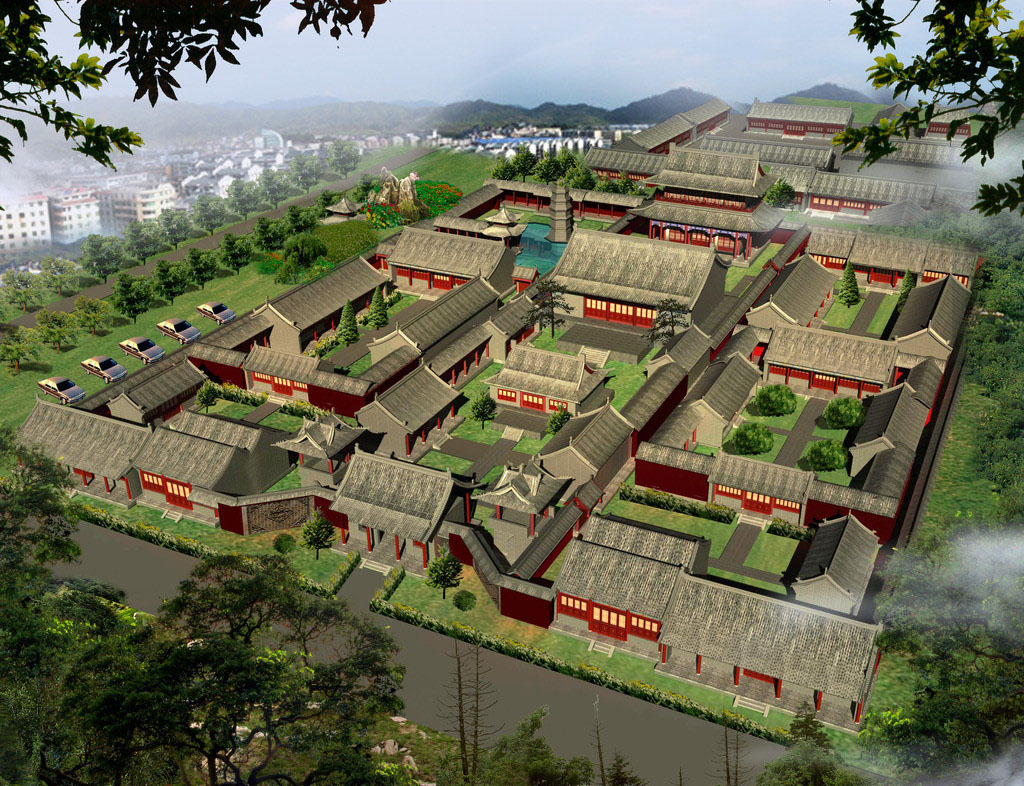 古建寺庙设计案例效果图