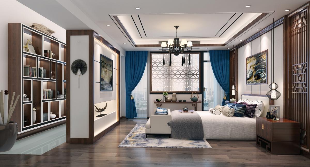 城市山谷中式别墅装饰效果图案例