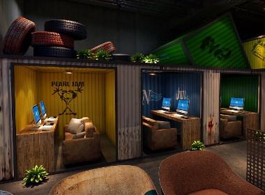 龙泉七号网吧设计-成都龙泉网咖设计|龙泉网吧装修公司|龙泉专业网咖设计公司