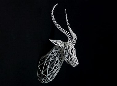 羚羊艺术装置创意家居墙饰