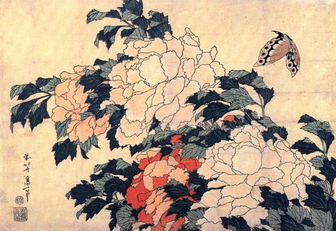 葛饰北斋的花卉艺术欣赏