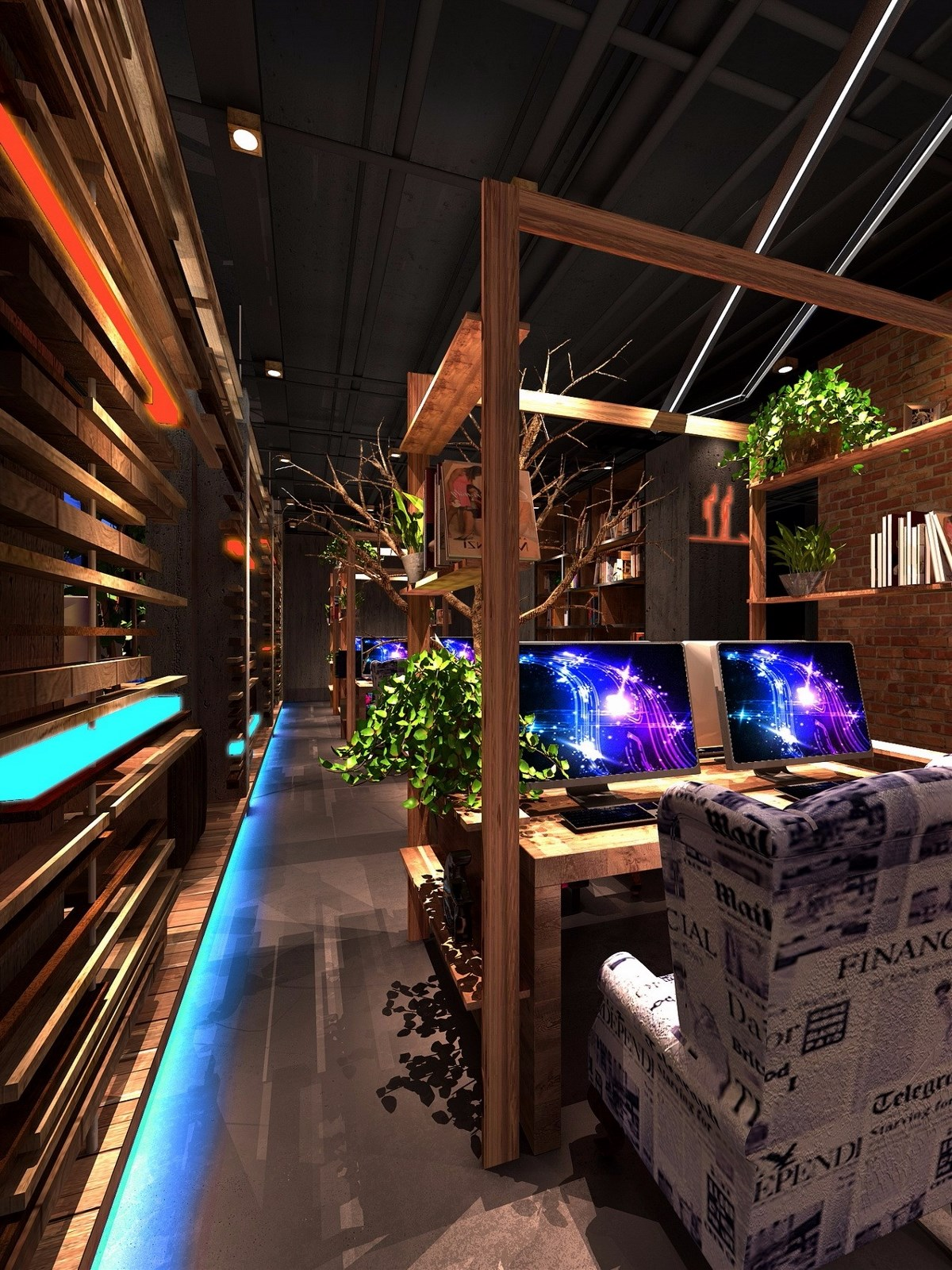 都江堰MEW网咖设计-都江堰网咖设计公司|成都专业网咖设计|成都网吧装修公司|成都专业网吧设计