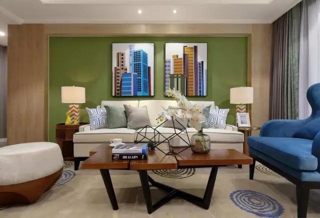 现代风格绿色小家,小两口幸福得像花儿一样!