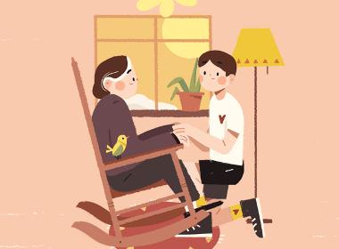 我和奶奶—插画欣赏