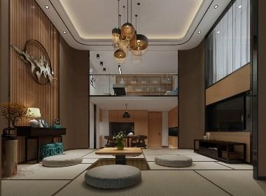 150㎡广州天河城复式公寓效果图